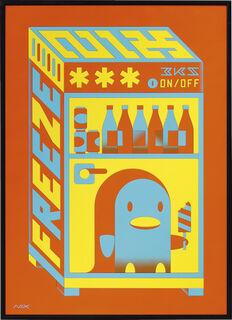 "Bild ""Freeze Orange"" (2019) (Unikat)"