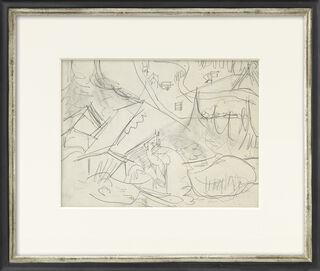 """Bild """"Blick von der Stafelalp ins Tal"""" (um 1919) (Unikat)"""