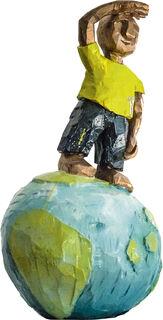 """Skulptur """"Weltenfahrer"""" (2020), Bronze"""