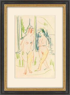 """Bild """"Zwei weibliche Akte im Walde"""" (1926) (Unikat)"""