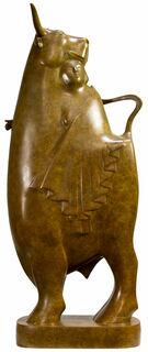 """Skulptur """"Europa und der Stier Nr. 4"""", Bronze braun"""