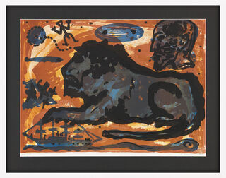 "A.R. Penck: Bild ""Louisana Löwe"" (1995)"
