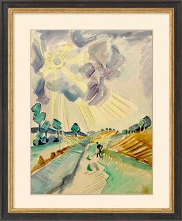 """Bild """"Strahlende Sonne"""" (1918/23) (Unikat)"""