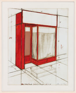 """Christo and Jeanne-Claude: Bild """"Red Store Front, Project"""" (1977)"""