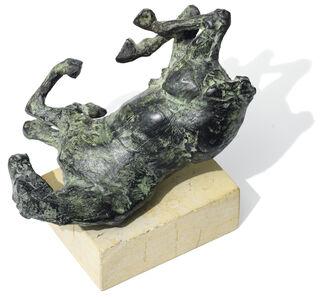 """Skulptur """"Sich wälzendes Pferd"""" (1997), Bronze"""