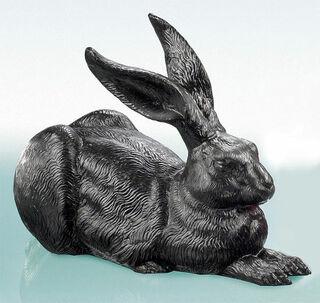 """Skulptur """"Das große Hasenstück (Schwarz)"""" (2003)"""