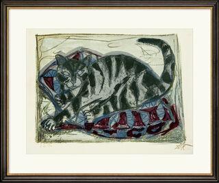 """Bild """"Katze"""" (1959) (Unikat)"""