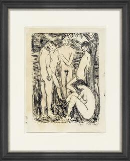"""Bild """"Zwei Jünglinge und drei Mädchen (Fünf Akte)"""" (1910)"""