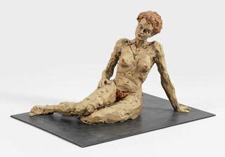 """Skulptur """"Liegende Frau"""" (2012), Bronze"""