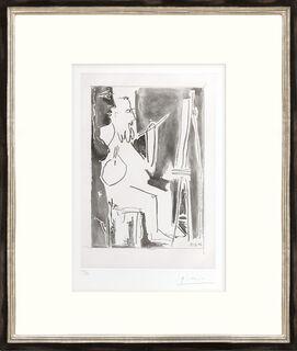 """Bild """"Peintre à chevalet et femme nue debout"""" (1963)"""