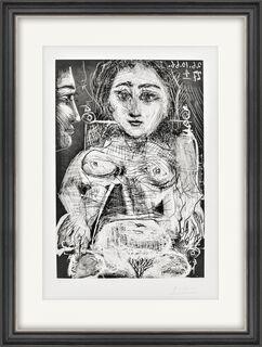 """Bild """"Portrait de Jacqueline au fauteuil"""" (1966)"""