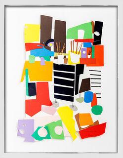 "Bild ""Atelier, Planschrank, Pinsel"" (2015) (Unikat)"