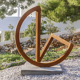 "Skulptur ""Endlosschleife 5"" (2013) (Unikat), Stahl"
