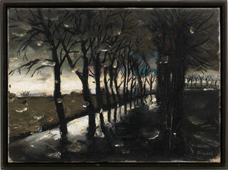 """Bild """"Chaussee nach Strodehne"""" (2006) (Unikat)"""