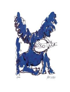 """Bild """"Pegasus mit Lautenspieler"""" (2020)"""