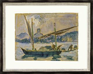 """Bild """"Lastenbarge auf Genfer See"""" (1924) (Unikat)"""