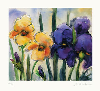 "Bild ""Iris gelb & blau"" (2013)"