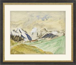 """Bild """"Verschneite Berge"""" (1922) (Unikat)"""
