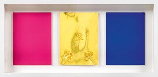 "Triptychon ""Monochrome und Feuer (Triptyche de Krefeld)"" (1961) (Unikat)"