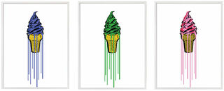 """3 Bilder """"Glitter Icecream"""" im Set"""