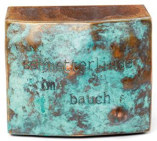 """Skulptur """"Schmetterlinge im Bauch"""" (2021) (Unikat), Stahl , Bronze"""