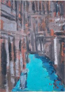 """Bild """"Venedig Kanal"""" (2020) (Unikat)"""