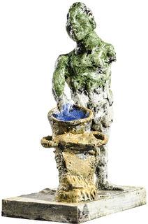 """Skulptur """"Wassermann"""" (2018), Bronze"""