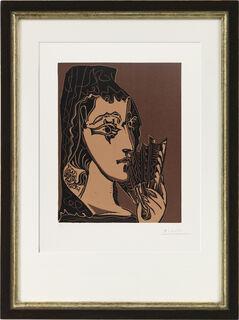 """Bild """"L`Espagnole ( Portrait de Jacqueline en Carmen )"""" (1965)"""