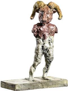"""Skulptur """"Steinbock"""" (2018), Bronze"""
