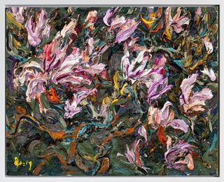 "Bild ""Magnolienzweige X"" (2017) (Unikat)"