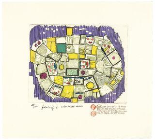 984 DER GARTEN, THE GARDEN, LE JARDIN (violett) (1998) (Farbradierung)
