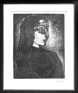 """Bild """"Jacqueline im Profil nach rechts"""" (1958)"""