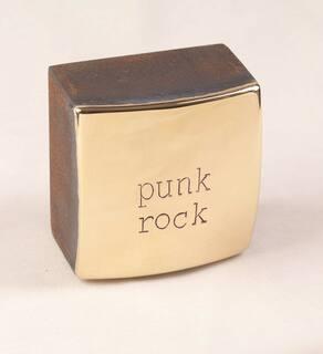 "Objekt ""punkrock"" (2020) (Unikat), Bronze, Stahl"