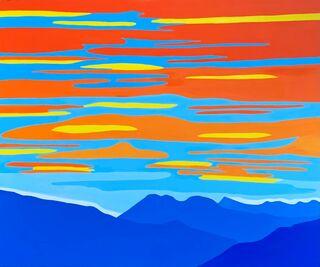 """Bild """"Himmel mit blauen Bergen"""" (2021) (Unikat)"""