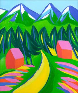"""Bild """"Bergwelten II"""" (2021) (Unikat)"""