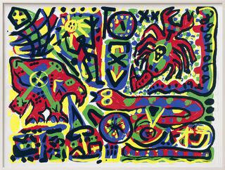 """Bild """"Skorpion, Schlange, Vogel"""" (1980/90er Jahre)"""