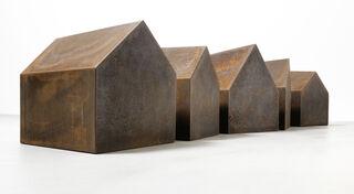 """Skulptur """"Braunes Dorf"""" (2016) (Unikat)"""