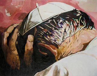 "Bild ""Papst"" (2003) (Unikat)"