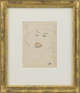 "Bild ""Porträt-Skizze Lotte"" (1911) (Unikat)"