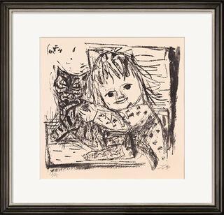 "Bild ""Kind mit Katze"" (1964)"