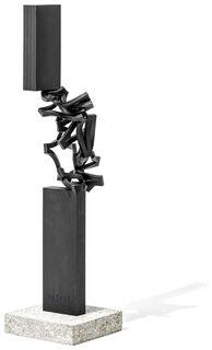 "Skulptur ""Drehung XVIII"" (2021), Stahl"