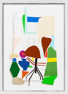 "Bild ""T. Atelier Blaue Vase + Stuhl"" (2015) (Unikat)"