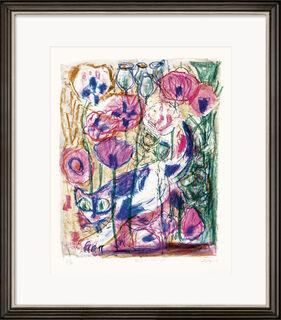"""Bild """"Katze im Mohnfeld"""" (1968)"""