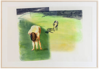 "Bild ""Woman with Dog"" aus dem Portfolio ""Beach Scenes I-IV"" (1989)"
