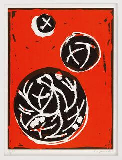 """Bild """"3 Kugeln (3 Platten)"""" (1991)"""