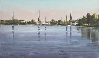 "Bild ""Blick auf Hamburg"" (2020) (Unikat)"