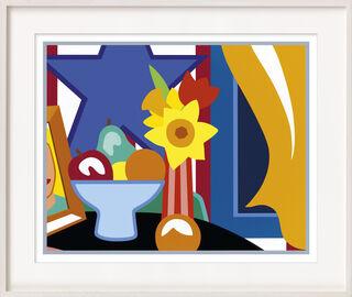 "Bild ""Still Life with Blowing Curtain (Orange)"" (1999)"
