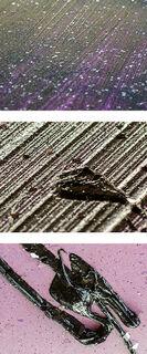 """Bild """"Diamond Dust (aubergine/pink)"""" (2019) (Unikat)"""