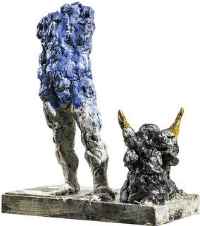 """Skulptur """"Stier"""" (2018), Bronze"""