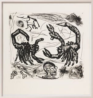 """Bild """"Was einem Emigranten durch den Kopf geht - Tafel I"""" (1987) (Unikat)"""